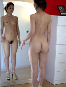 Exciting hairy pussy asian housewife